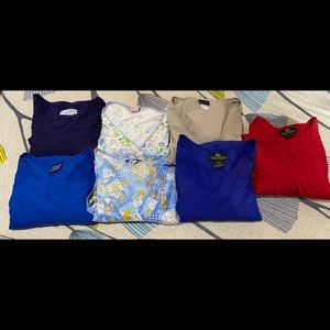 Used scrub tops with pockets